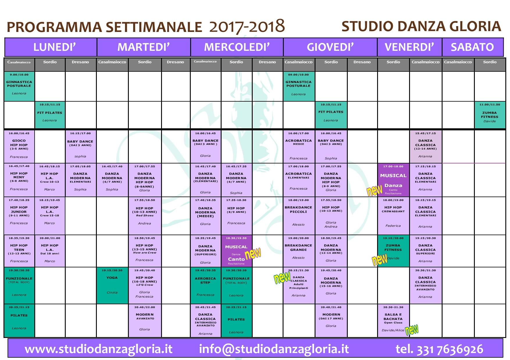 planning 2017 2018 AGGIORNATO